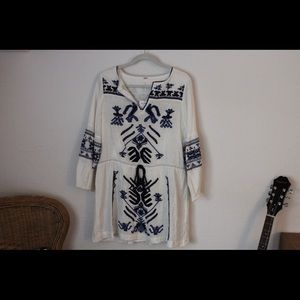 NWT Free People Embroidered Dress Sz Small